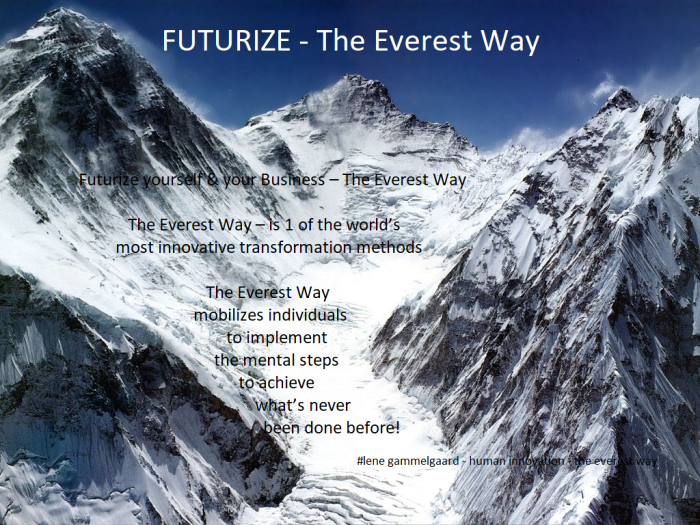 Citat Futurize the everest way